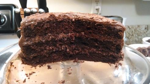 Moms Chocolate PB cake