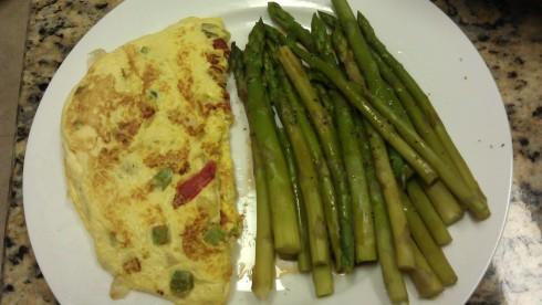 Omelet Asparagus