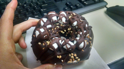 Nicola's Rocky Road Donut