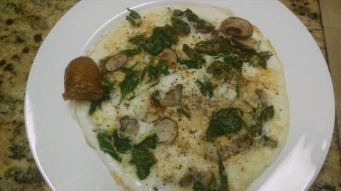 Egg spinach mushroom frittata